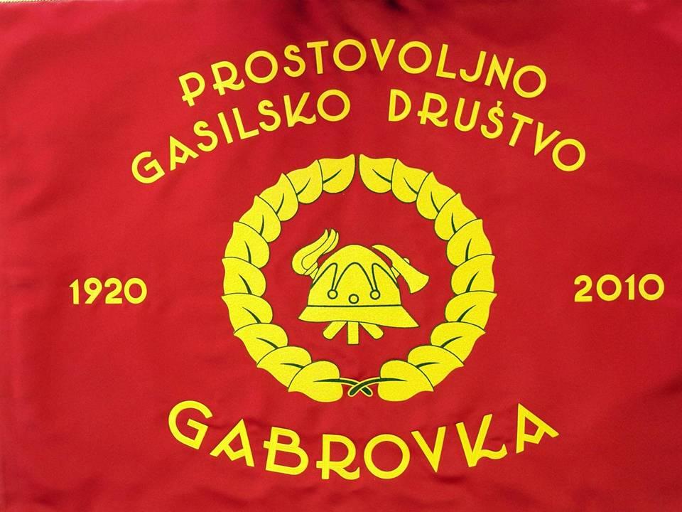 Prapor PGD Gabrovka spredaj